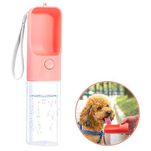 TRUE LOVE Dog Water Bottle for Walking, Portable Pet Travel Water Drink Cup Mug Dish Bowl Dispenser, Made of Food-Grade…