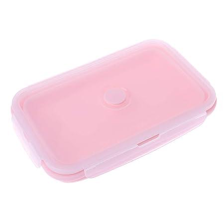 Lunji recinto Silicona Plegable Bento Lunch Box lavavajillas ...