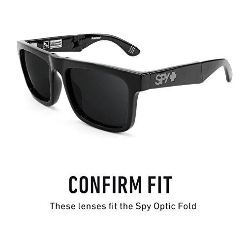 Verres de rechange pour Spy Optic Fold — Plusieurs options Gris Vert - Non-Polarisés