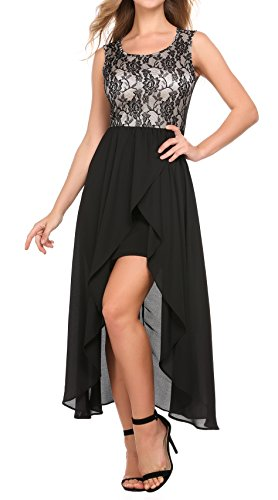 Women's Plus Size Round Neck Sleeveless Beach Dress Knee Length Split High Low Hem Casual Party Dress