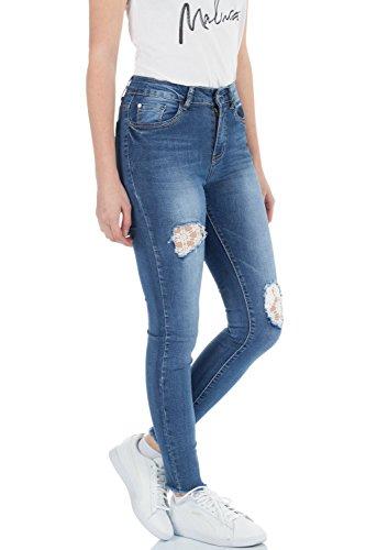 Femme bleu Bleu malucas Skinny Jeans Bleu ZgqwxH04