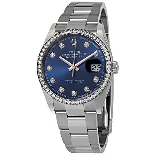Rolex Datejust 36 Blue Diamond Dial Automatic Unisex Oyster Watch 126284BLDO