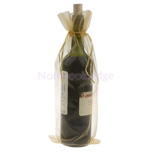 ine Bottle Gift Drawstring Mesh Bag Wedding Party Supplies 6 Colors (gold) (Betty Boop Bottle Opener)