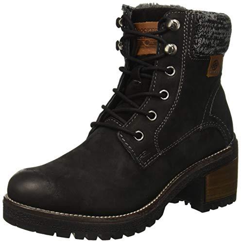 100 Negro By schwarz 43ln304 Gerli Mujer Militar Para Dockers Botas O0zdwxq