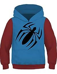85fb0fca Kids Spider-Verse Miles Morales Hoodie Pullover Sweatshirt 4-13 Years