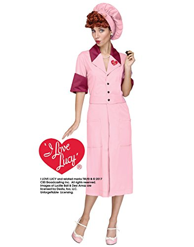 Fun World Women's Lucy Candy Factory Costume,