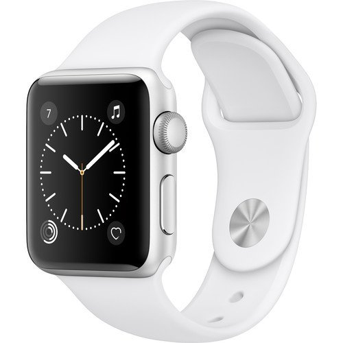 Apple Watch Series 2 Smartwatch 38mm Silver Aluminum Case White Sport Band (Renewed) -  Apple Watch2 38 SLV WHT