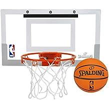 Spalding NBA Slam Jam Over-The-Door Mini Basketball Hoop (Renewed)