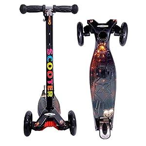 Toyshine 3 Wheels Heavy Duty Premium Scooter Runner for Kids Graffiti Model