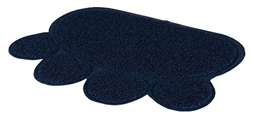 Trixie Paw PVC Cat Litter Tray Mat, 60 x 45 cm, Dark Blue