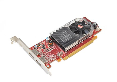 Aquamoon Trading New W459D Genuine OEM ATI Radeon HD 3470 Video Graphics Card High Profile Single Slot Performance 256MB DDR2 2x Display Ports Interface PCI-Express 7123035100G