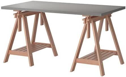 Ikea LINNMONFINNVARD Mesa, Gris, Haya 150x75 cm: Amazon