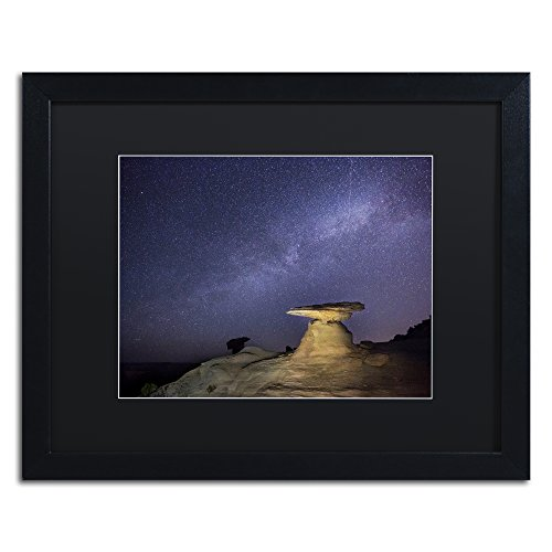 picture of Trademark Fine Art Starry Night in Arizona III by Moises Levy in Black Matte and Black Framed Artwork, 16 by 20""