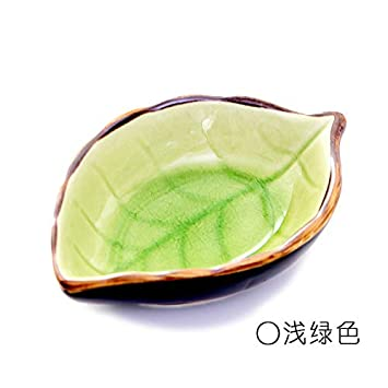 Plato de cerámica para pasta de frutas, hojas de caramelo, pequeño plato de cerámica