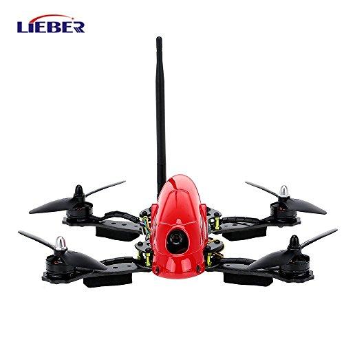Lieber 2017 RC Hobby Carbon Fiber UAV Hawk LB-280 FPV Racing Drone with HD Camera Remote Control CC3D Flight Controller - Red-ATF