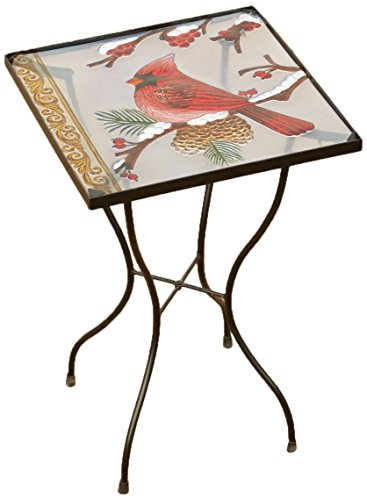 Your Heart's Delight Top Cardinal Garden Table, 14 by 21-Inch