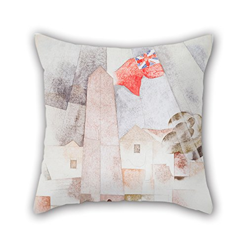 Oil Painting Charles Demuth - Monument, Bermuda Pillow Covers 18 X 18 Inches / 45 By 45 Cm Best Choice For Bench,home,boys,office,kids Girls,home Theater With Twin Sides (Dining Bermuda Set)
