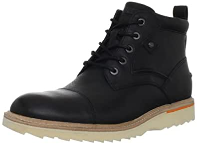 Rockport Men's Union Street Cap-Toe Boot, Black, 7 M US