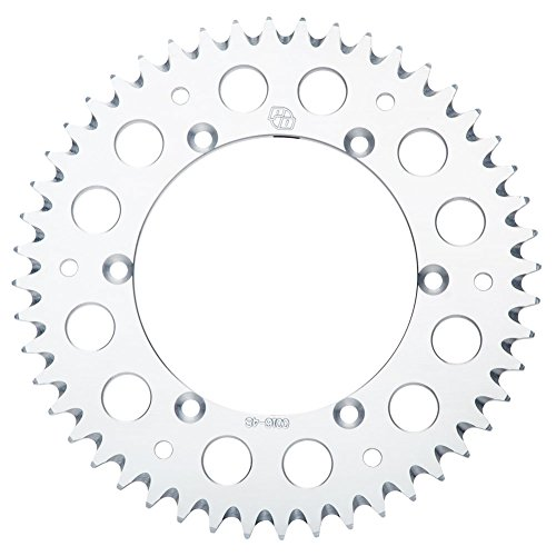 Primary Drive Rear Aluminum Sprocket 49 Tooth Silver - Fits: Yamaha YZ125 1999-2018 (Aluminum 49 Teeth)