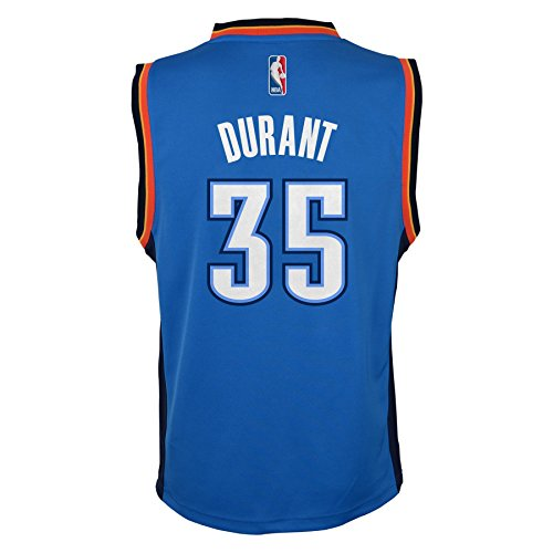 Amazon.com  NBA Oklahoma City Thunder Kevin Durant 35 Youth Replica Road  Jersey, Blue  Sports Fan Jerseys  Sports  Outdoors