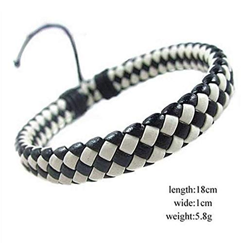 - Trendy Charm Bracelets Leather Jewelry Woven Rope Chain Comfortable Vintage Men Women Bohemia Gift