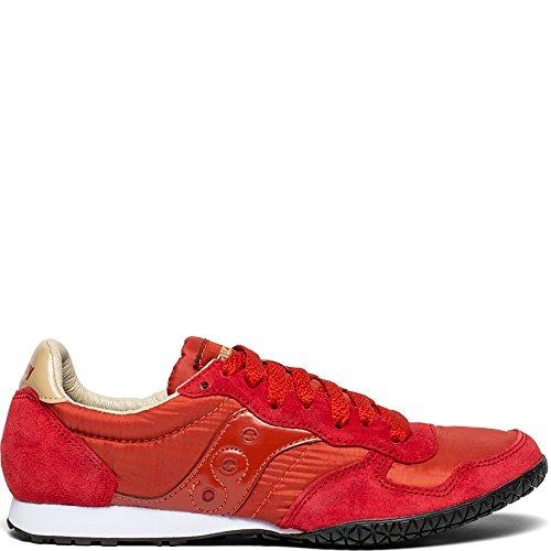 Saucony Originals Women's Bullet Sneaker, Red/Tan, 6.5 M US -