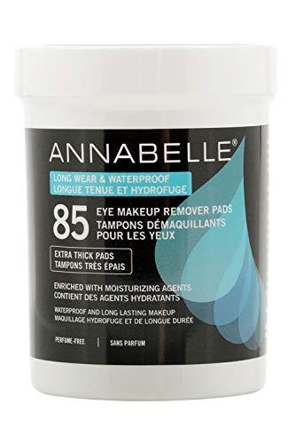 Annabelle Long-Wear & Waterproof Eye Makeup Remover Pads, 85 pads