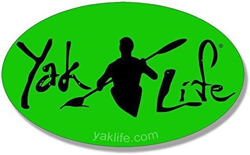 Kayak Kayaking Decal American Vinyl Licensed Oval White Yak Life Sticker