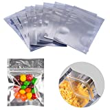 Luckycivia 100 PACK Resealable Clear Ziplock Mylar Bags Smell Proof Pouch Aluminum Foil Zip Lock Bulk Food Storage Bag, FDA Approved Food Safe Plastic Aluminum Material,3x4 inch
