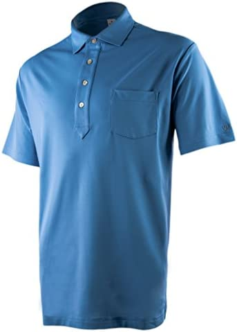 VUGA Men's High Performance Polo Shirt with Pocket, Anti-Microbial and Snag Resistant Fabric, Ideal for Golf and Tennis