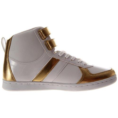 Creatieve Recreatie Dames Dicoco Sneaker Schoen Wit Metallic Goud