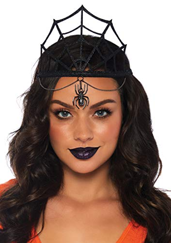Leg Avenue Women's Spider Web Crown Costume Accessory, Black, One Size (Leg Avenue Hat)