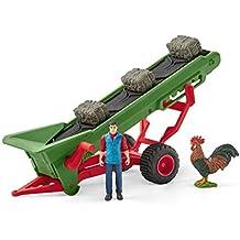 Schleich Farm World Hay Conveyor with Farmer Toy