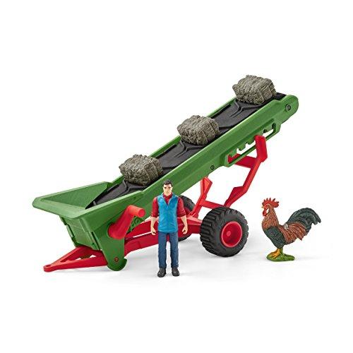 Schleich Farm World Hay Conveyor with Farmer Toy (Big Barn Farm)