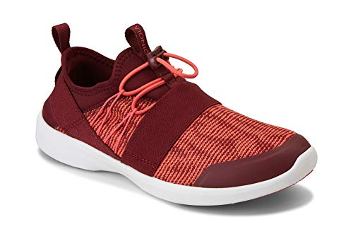 - Vionic Women's Sky Alaina Slip-on Active Sneaker - Ladies Walking Shoes with Concealed Orthotic Arch Support Maroon 11 M US