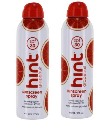 Sunscreen Spray Broad Spectrum Grapefruit 30 SPF - 6 fl. oz. by Hint - 2 pack by Unknown