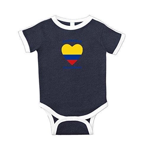 6091c29c6f1 Cute Rascals Adorable Colombian Heart Cotton Short Sleeve Crewneck Unisex  Baby Soccer Bodysuit Sports Jersey - Navy