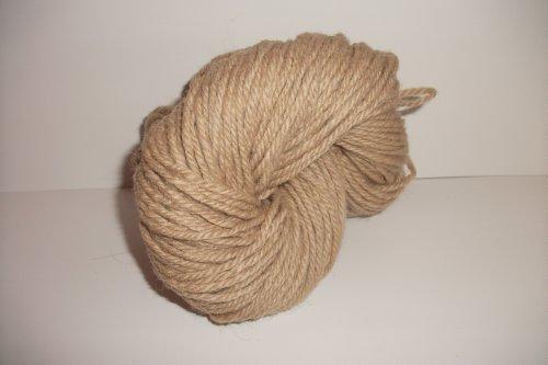 (Heavy Weight Bulky Camel Tan 100% Wool Chunky Yarn)