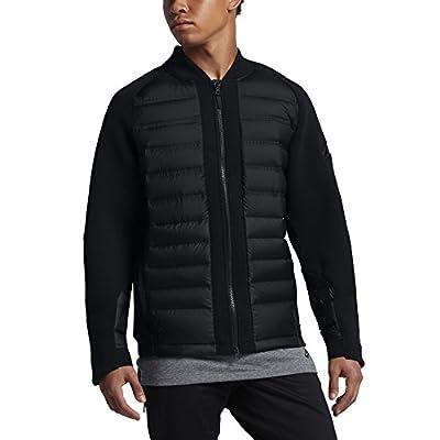 New NIKE Sportswear Tech Fleece Aeroloft Men's Down Bomber Black 806837 010
