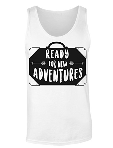 (Finest Prints Ready For New Adventures Vintage Suitcase Women's Tank Top Shirt Extra Large)