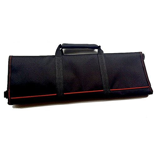 Waterproof Chef's Knife Roll Bag Multi Purpose Canvas Knife Roll Bag Pouch with Handle Strap HGJ03-R-US by Hersent (Image #6)