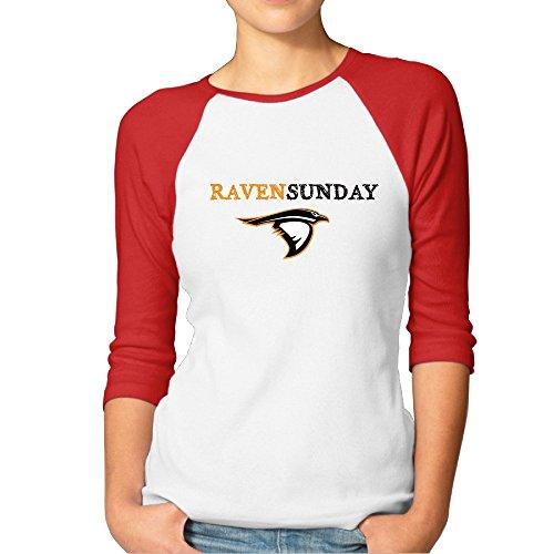 KONGYII Women Raven Sunday Slim Fit Raglan T-shirt