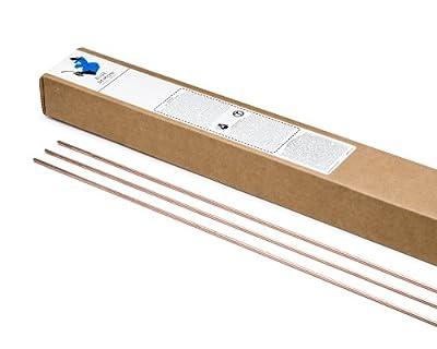 "Blue Demon ER70S-2 x .030 x 36"" x 10# Box Premium Carbon Steel Tig Welding Rod"