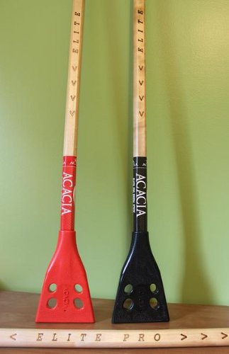 ACACIA Elite Pro Broomball Sticks, Natural Wood/Black