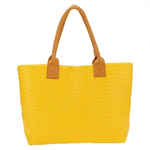 Bolso dama - All4you bolso estilo Tote ligero gran capacidad Bag(Orange) Amarillo