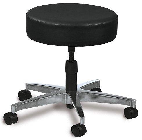 Spin-Lift Adjustable Stool - No Backrest, 5-Leg