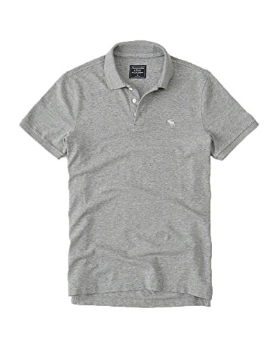 Abercrombie   Fitch Mens Slim Muscle Polo Shirt  L  Stretch Gray