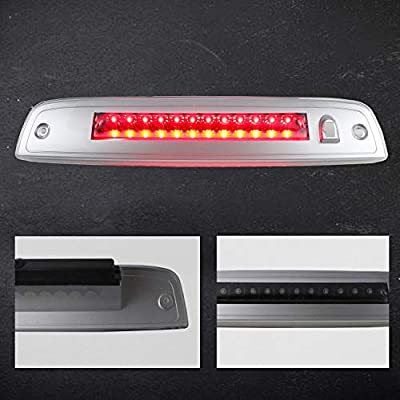 Sanzitop LED 3rd Brake Lights Center Mount Brake Light Replacement Fit for 2003-2016 Ford Expedition/Lincoln Navigator Replace 923259 7L1Z13A613A 6L1Z13A613AA (Black Housing Clear Lens): Automotive
