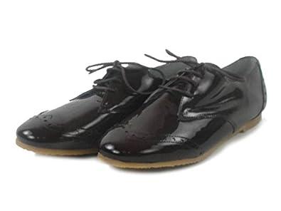 JUNIC Schuhe SCHNÜRER Shoes Brit Derby Dunkelbraun Lack Leder Spain J0269VAIv (42) Y3ZnvQ