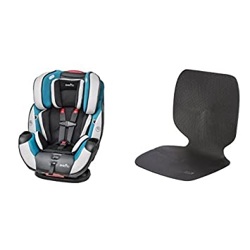 Evenflo Symphony Dlx All In One Convertible Car Seat Modesto With Car Undermat Seat Protector